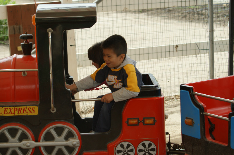 Child On Train Underwood Farms